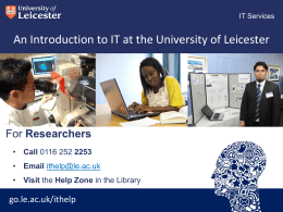 Researchers - University of Leicester