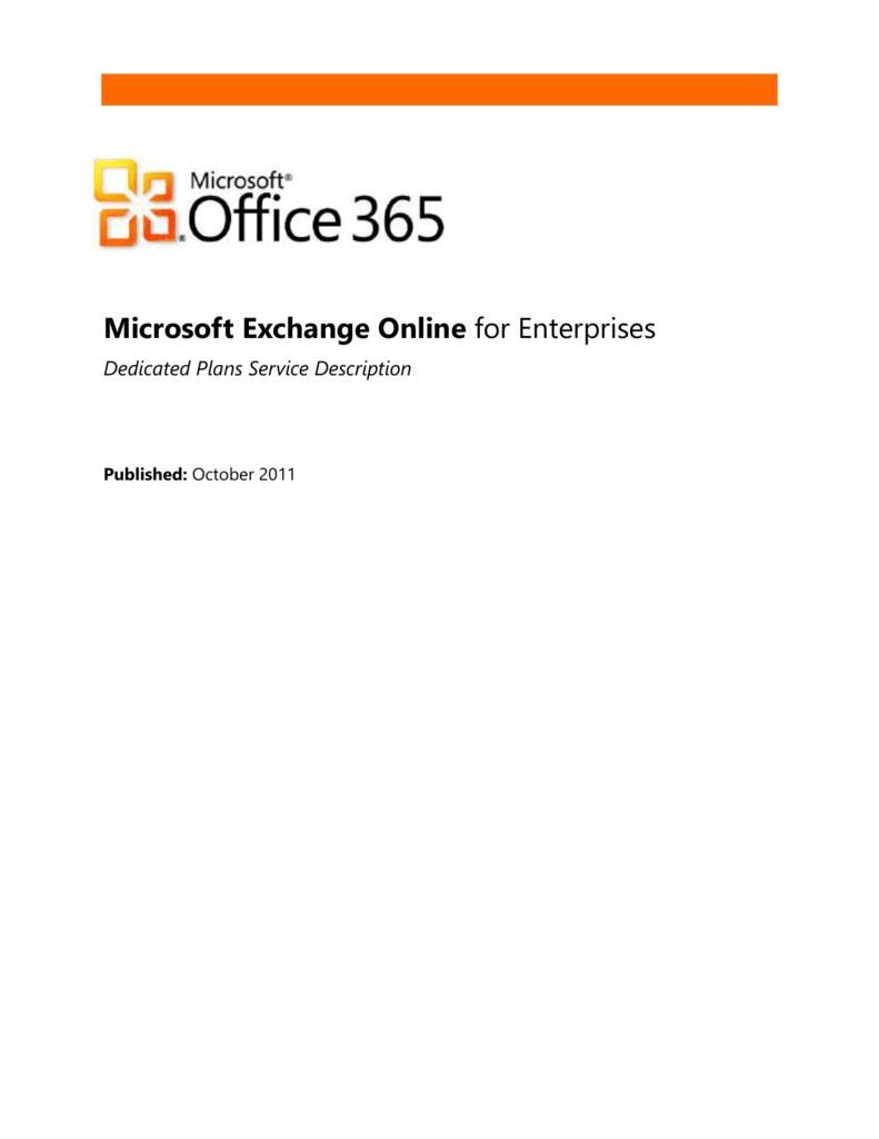 Exchange Online Infrastructure