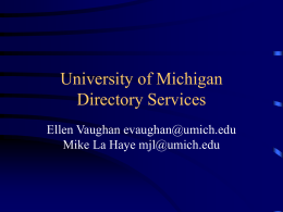University of Michigan Directory Services