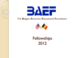 Fellowships 2011