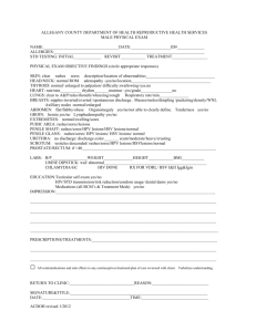 male exam 1-2012 - Allegany County Department of Health