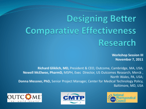 Designing Better Comparative Effectiveness Research.