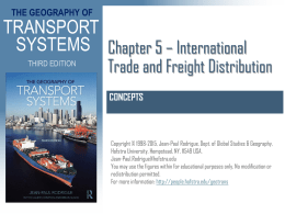Chapter 5 - International Trade and Freight Distribution