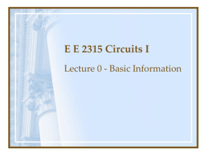 EE 2315 Circuits I Introduction - The University of Texas at Arlington