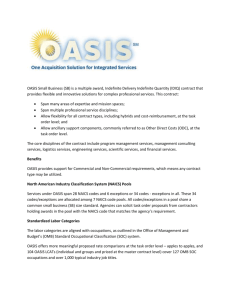 General Overview of OASIS