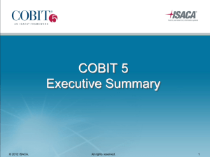 COBIT 5 Executive Summary