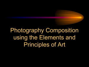 Photography Composition using the Elements and Principles of Art