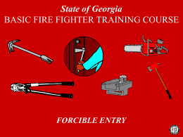 forcible entry - LSU Fire and Emergency Training Institute