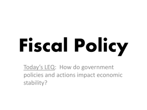 ppt 7 _ Fiscal Policy