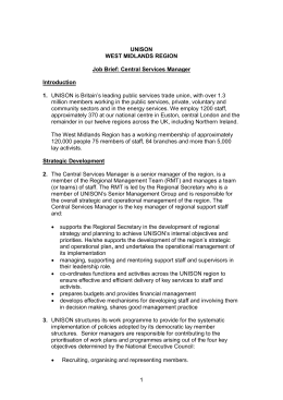 job brief jd and person spec central services manager