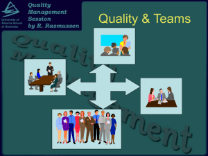 Quality Management - University of Alberta