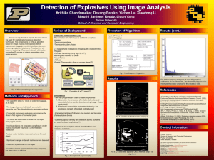 Detection of Explosives Using Image Analysis