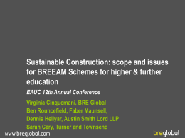 BREEAM Schools Alan Pither Clare Lowe
