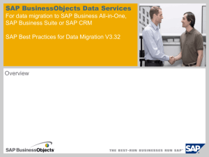 Overview of SAP Best Practices for Data Migration