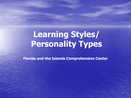 Learning Styles/Personality Types