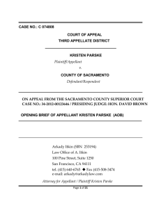 AOB FEHA Summary Judgment Appeal