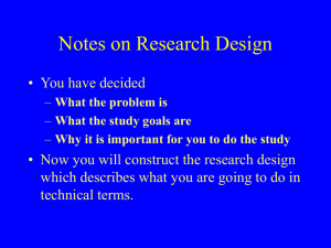 Notes on Research Design