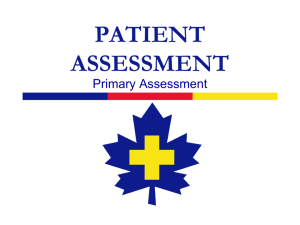 The primary assessment