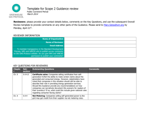 Scope 2 Guidance Review Template