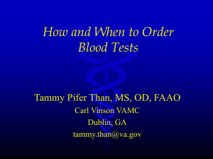 Laboratory Testing: Its Role in Diagnosing and Managing Ocular