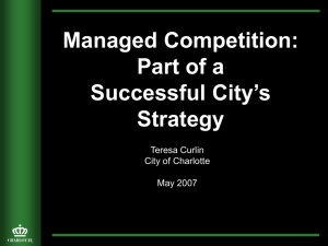 Managed Competition: Part of a Successful City's Strategy