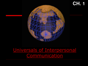Universals of Interpersonal Communication