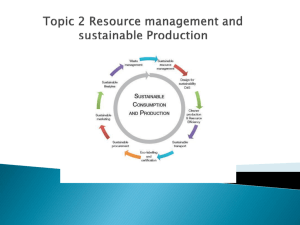 Topic 2 Resource management and sustainable Production - IB