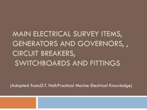 Main Electrical Survey Items, Generators and Governors , Circuit
