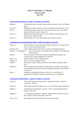 SEELEY HISTORICAL LIBRARY Journal articles June 2013