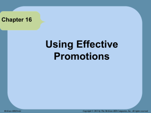 CHAPTER 16b_Using Effective Promotions