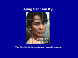 Examplar Unit 3 Culminating Aung San Suu Kyi