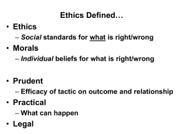 ethics.winter2011 - University of Toronto Scarborough