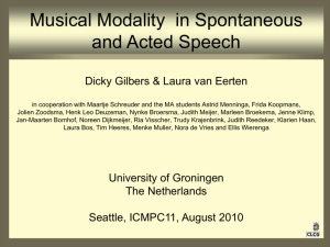 Acted happy speech contains more modality