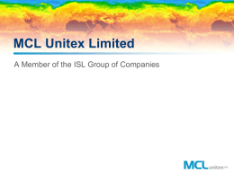 the MCL Unitex Presentation (.ppt)