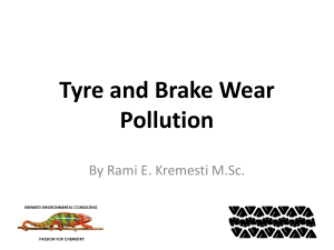 Tire and Brake Wear Pollution