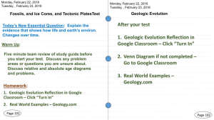 1. Geologic Evolution Reflection in Google