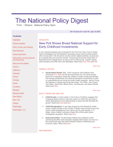 National Policy Digest, vol. 3, issue 12: June 16