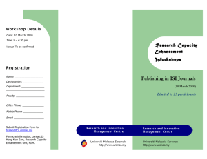 Publishing in ISI Journals
