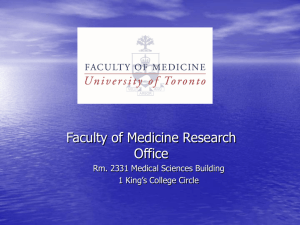 Service to the Faculty - Research and International Relations