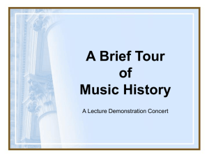 A Brief Tour of Music History