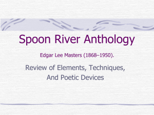 Spoon River Anthology Edgar Lee Masters (1868*1950).
