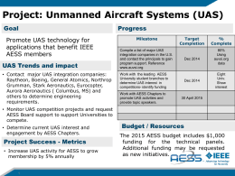 Unmanned Aerial Vehicles Panel Presentation