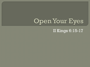 Open Your Eyes - Lake Forest church of Christ