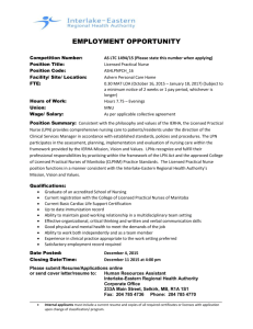 EMPLOYMENT OPPORTUNITY Competition Number: AS LTC 1494