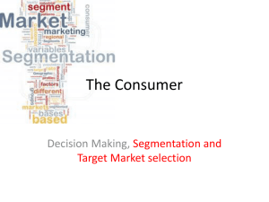MKTG Segmentation and Target Market Selection