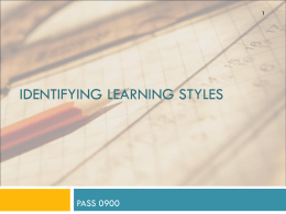 Learning Styles - Austin Peay State University