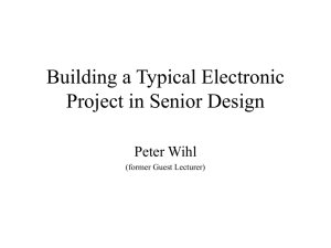 Designing an Electronic Product