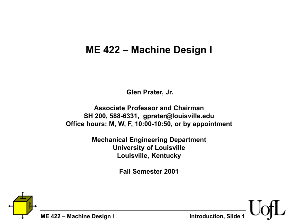 Lecture Notes Week 1 University Of Louisville