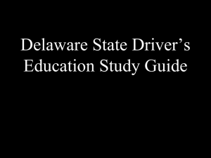 Delaware State Driver's Education Final Exam