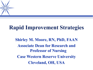 Rapid Improvement Strategies